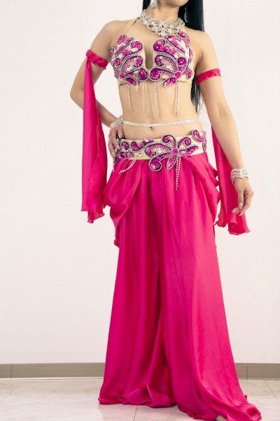 Amr ベリーダンス衣装 ブラベルト スカート単体 オリエンタル衣装 豪華