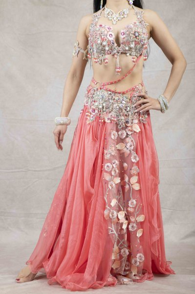 Amr ベリーダンス一体型衣装 オリエンタルドレス bk