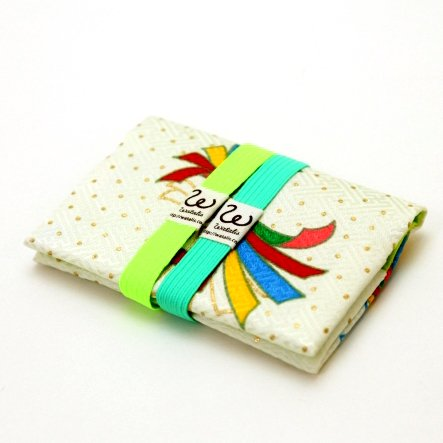 地曵いく子プロデュースきものカードケース(パッショングリーン×エメラルドゴムバンド付)