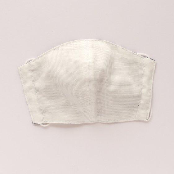 マスク ボーダー ホワイト&グレーA