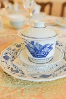 景徳鎮磁器手づくり手描き富貴特製蓋碗