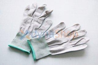 分解作業用グローブ 女性用Mサイズ  低発塵 静電気拡散 ノンコートタイプ (1セット)
