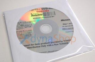 処分品 windows7 Pro 中古 東芝 Satellite B451/D B551/D B651/Dシリーズ リカバリーメディア