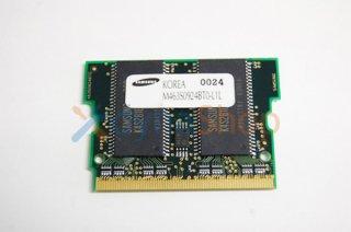 中古 サムスン製  64MB増設メモリ 144p PC100 CL2 4c 8x16 SDRAM microDIMM S37