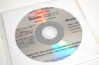 処分品(未開封)windows7 Pro 東芝 Satellite K40 K45 L40 L45シリーズ リカバリーメディア