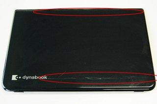 難あり 中古 東芝 dynabook T554/45 LCDカバー(液晶カバー 天板 ヒンジ金具付き)No.0517