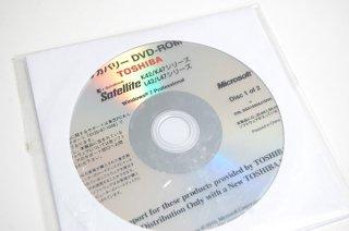 処分品(開封済) windows7 Pro 東芝 Satellite K42 K47 L42 L47 シリーズ リカバリーメディア