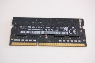 中古 SKhynix製 東芝 Satellite B554シリーズ 増設メモリ 2GB PC3L-12800 No.0404-1