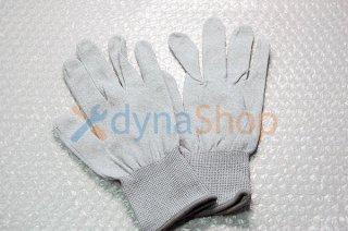 分解作業用グローブ 男性用Lサイズ  低発塵 静電気拡散 ノンコートタイプ (1セット)