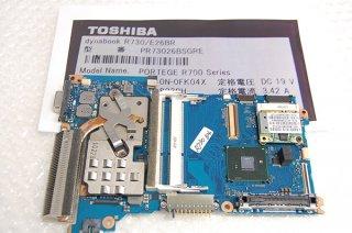 中古 東芝 dynabook R730/E26BR 用 マザーボード Core i3 動作品 No.0322