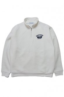 <img class='new_mark_img1' src='//img.shop-pro.jp/img/new/icons14.gif' style='border:none;display:inline;margin:0px;padding:0px;width:auto;' />ROCKCREEK HALF ZIP SWEAT ATHLETIC DEPT ロッククリーク ハーフジップスウェット WHITE