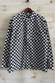 <img class='new_mark_img1' src='https://img.shop-pro.jp/img/new/icons24.gif' style='border:none;display:inline;margin:0px;padding:0px;width:auto;' />TOWN CRAFT CHECKER PRINTED OPEN SHIRTS タウンクラフト チェッカーシャツ