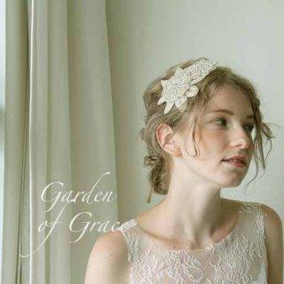お花モチーフのヘッドドレス ビーズ&ストーン