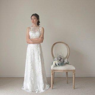 新作ウエディングドレス スレンダーライン 二次会ドレス 前撮りにも最適【アナボタニカルドレス】