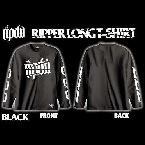RIP DESIGN WORXX / RIPPER LONG T-SHIRT (BLACK)