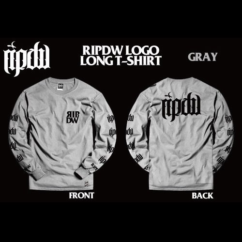 RIP DESIGN WORXX / LOGO LONG T-SHIRT (GRAY)