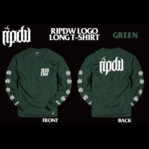 RIP DESIGN WORXX / LOGO LONG T-SHIRT (GREEN)