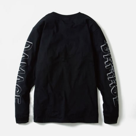 LILWHITE. / -DAMAGE- L/S Tee (BLK)