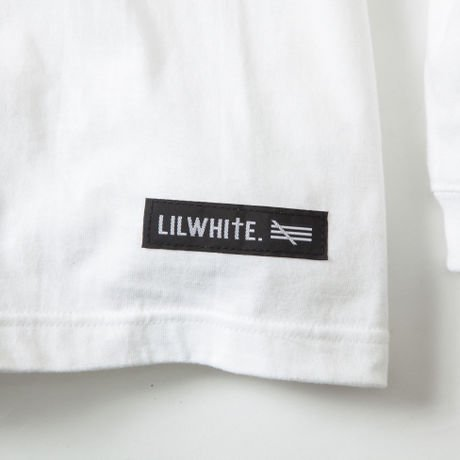 LILWHITE. / -DAMAGE- L/S Tee (WHT)