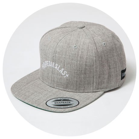 LILWHITE. / -ARCH- SNAP BACK CAP (GRY)