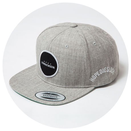 LILWHITE. / -SYMPATHIZER- SNAP BACK CAP (GRY)