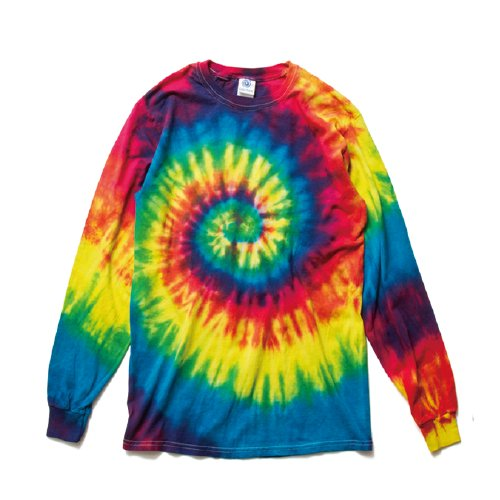 COLORTONE/ Rainbow & Spider Long Sleeve Tee(Neon Rainbow)