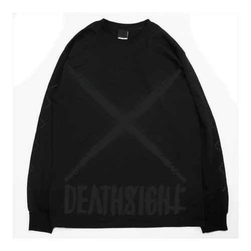 DEATHSIGHT   / xxx L/S TEES BLACK x BLACK