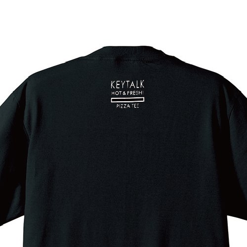 KEYTALK / PIZZA Tシャツ(BLACK)
