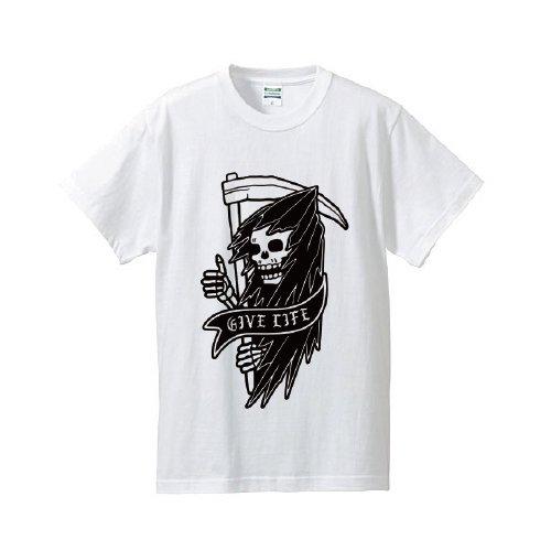 GIVELIFE / SKULL T-Shirt(White)