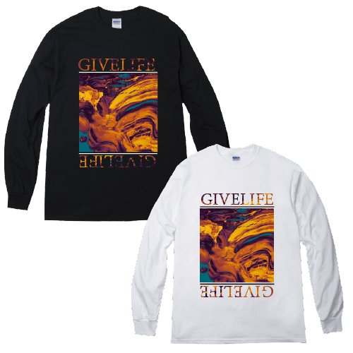 【予約商品】GIVE LIFE×MERCHBUY限定 WAGT L/S T-shirts(BLACK/White)