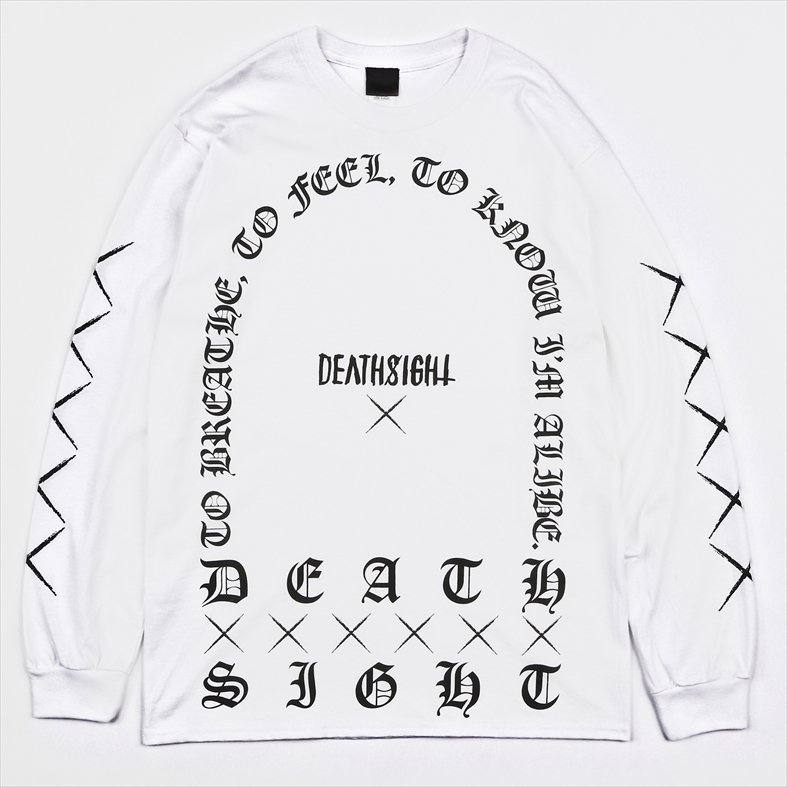 DEATHSIGHT /GRAVE L/S TEES / WHITE