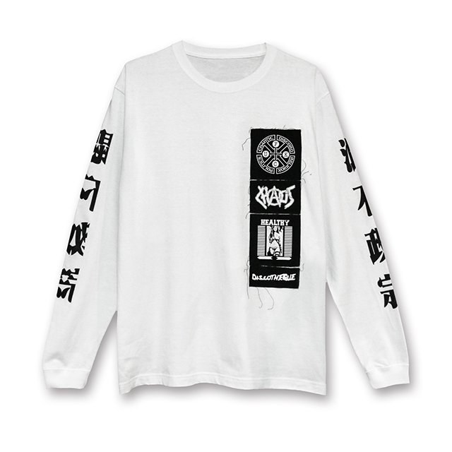 CHAOTIC / 混不政宗 L/S Tee(Black/White)