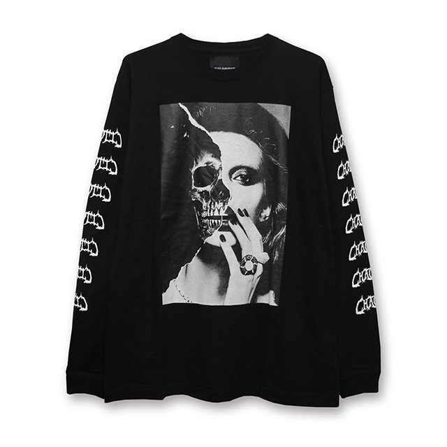 CHAOTIC / Two Face L/S Tee(Black/White)