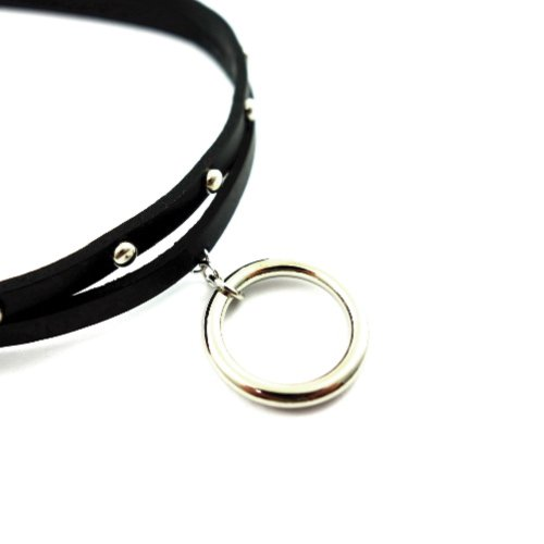 SELECT / WSlim Leather ringchoker