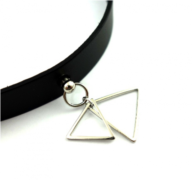 SELECT / W Triangle Leatherchoker