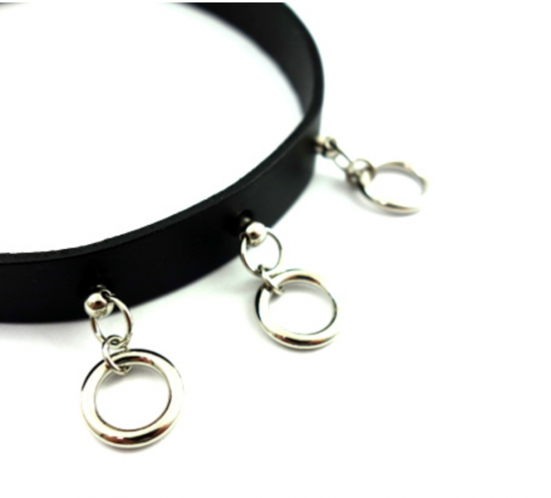SELECT / Triple Miniring Leatherchoker