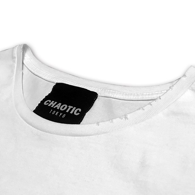 CHAOTIC / EDM IS DEAD DAMAGE Tee(WHITE)