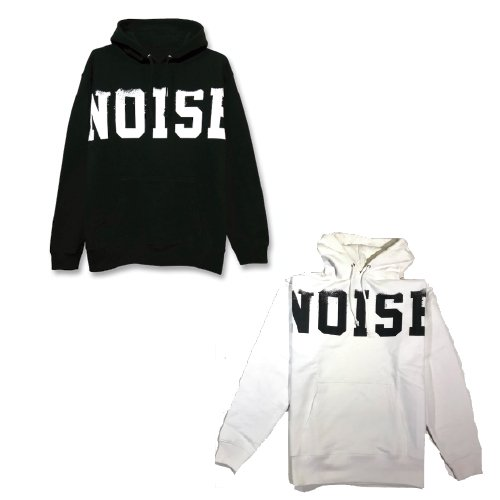 CHAOTIC / NOISE HOODY(BLACK/WHITE)