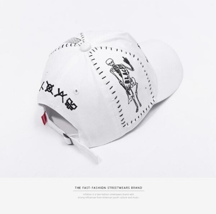 SELECT /  Embroidery CAP(White/Black)