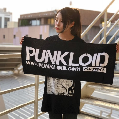PUNKLOID  / TOWEL (BLACK×WHITE)ラバーバンド付