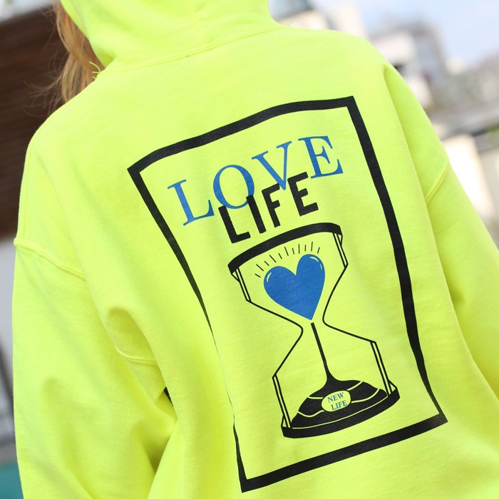 Deviluse / Love Life Pullover Hooded( Black/Neon Green)