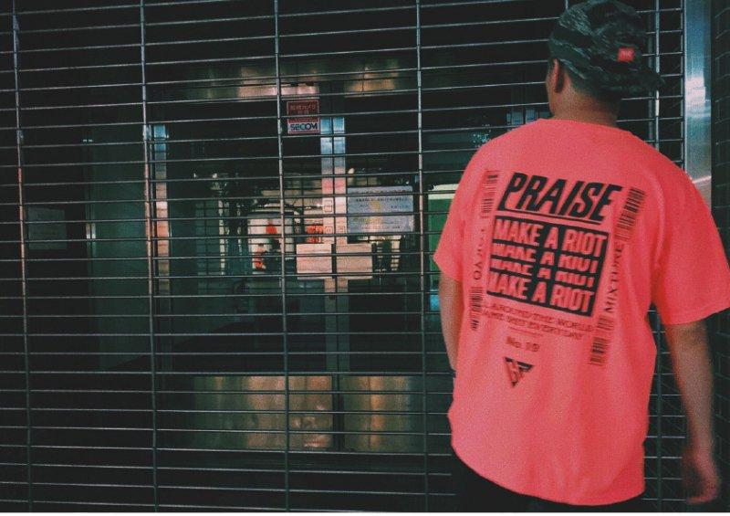 PRAISE × GRAVYSOURCE  T-shirts(Neon Orange) Mサイズのみ