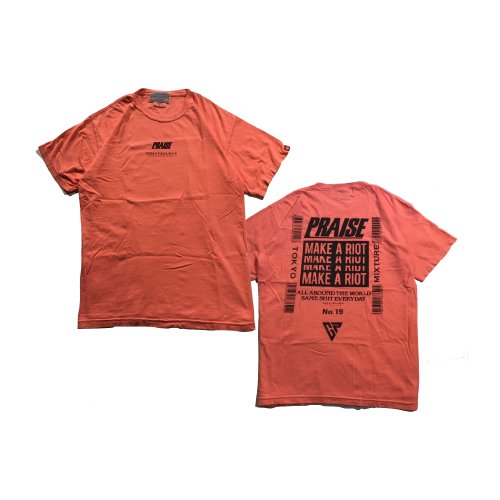 PRAISE × GRAVYSOURCE  T-shirts(Neon Orange)