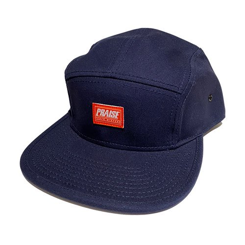 PRAISE / LOGO PATCH CAP (NAVY/RED)
