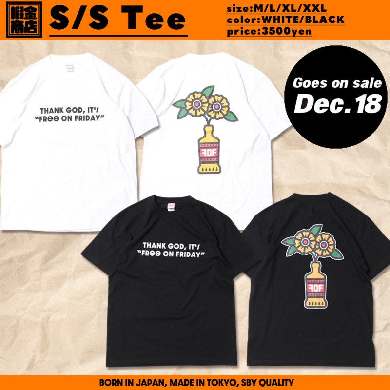 暇金商店 / S/S T-shirts (Black/White)