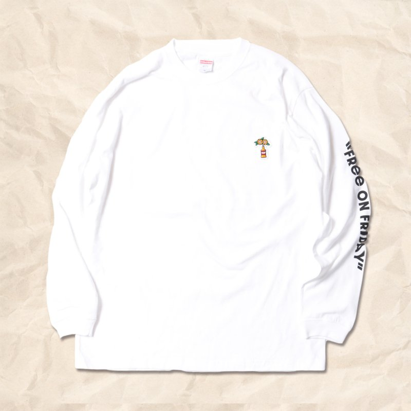 暇金商店 / L/S T-shirts (Black/White)