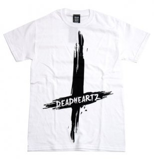 DEADHEARTZ / Cross tees (White)