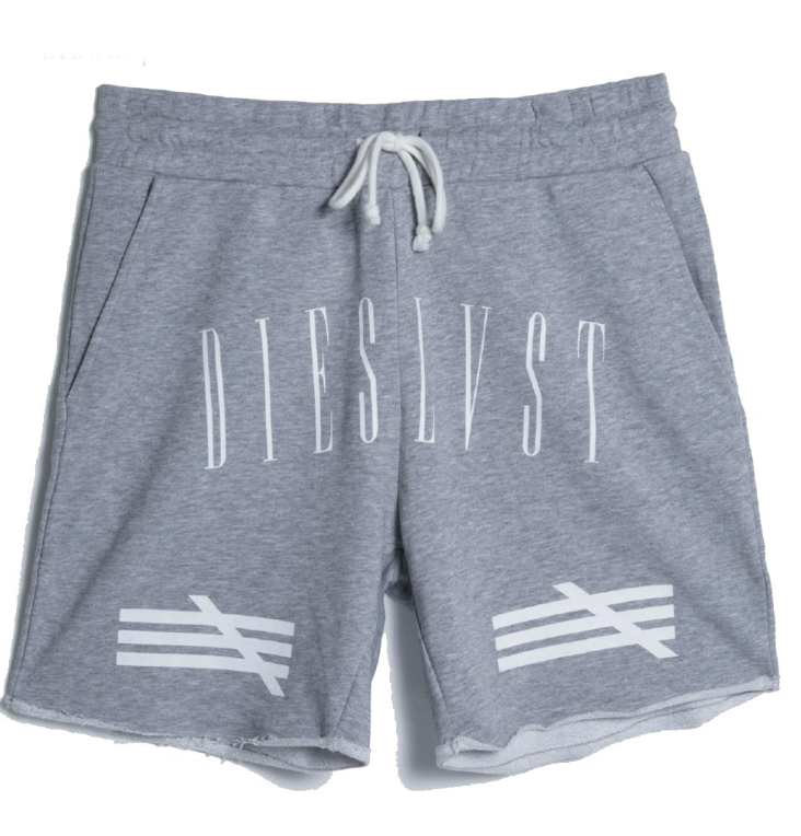 LILWHITE. / HDL CUT-OFF SHORTS  (GRY)