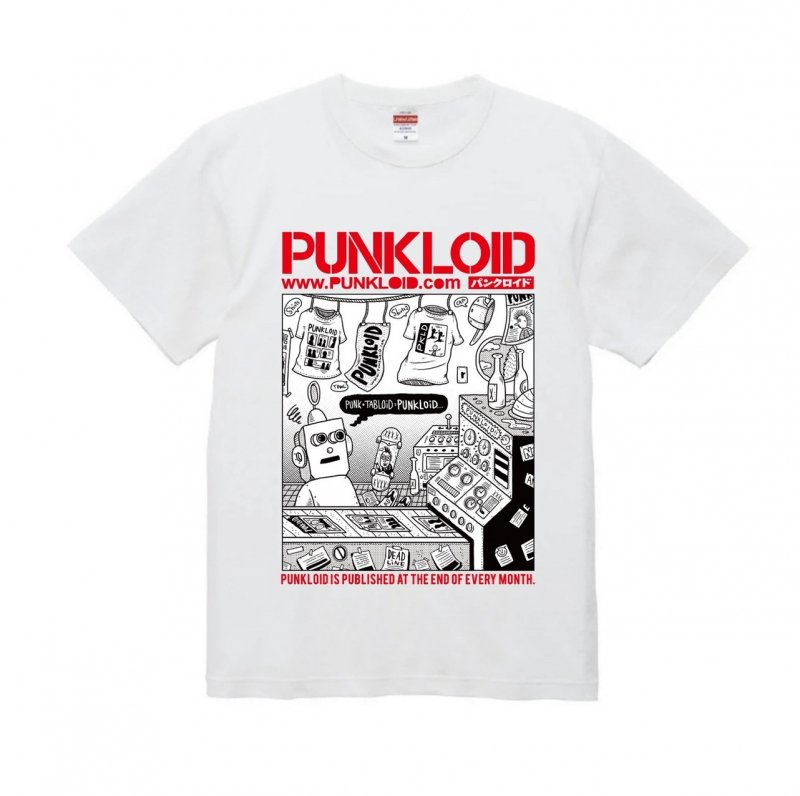 PUNKLOID / LOID Tee(WHITE × RED)ラバーバンド付