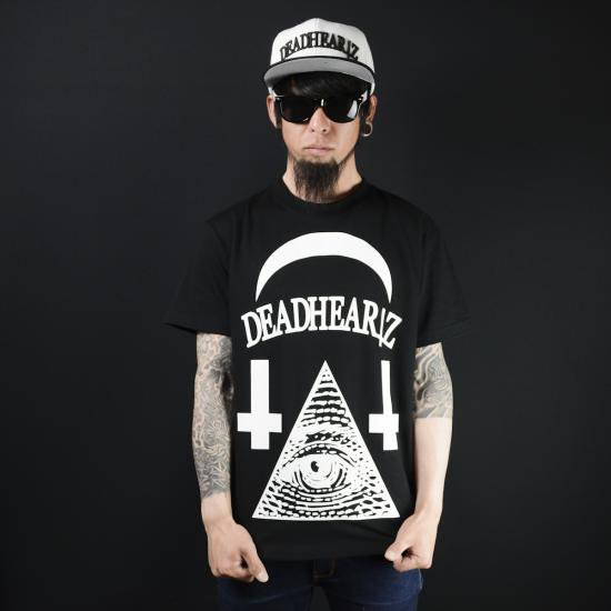 "DEADHEARTZ /""WORLD""TEES / BLACK"